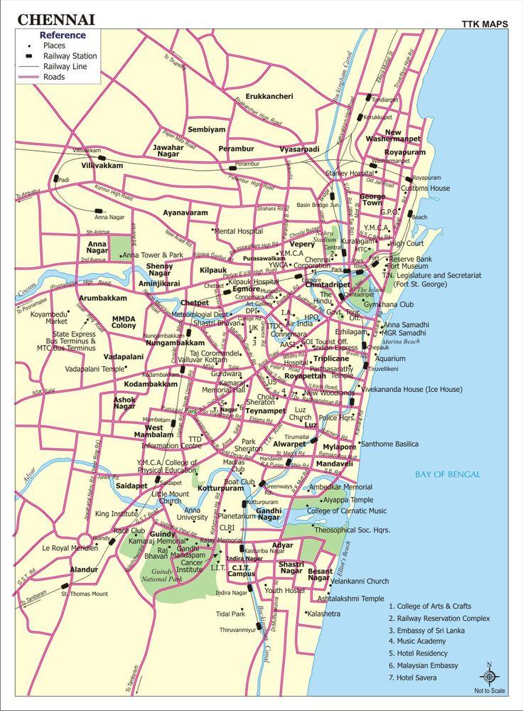Chennai, India Map