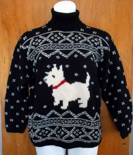 Xl Dog Sweater Knitting Pattern : Vintage ralph lauren wool west highland terrier dog
