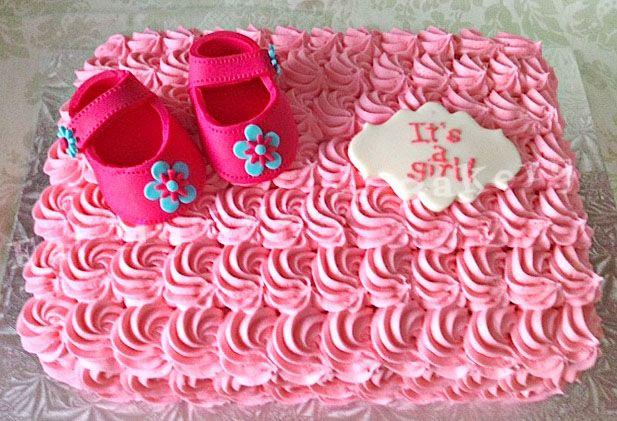 Baby Shower Cake Girl Pink Booties
