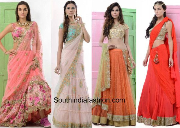 Gorgeous lehengas from Peppermint Diva's new collection - 'Runaway Bride'!