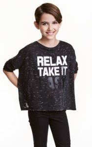 Blouses for H & M girls (8-14 + years) oversized-top-hm-girl