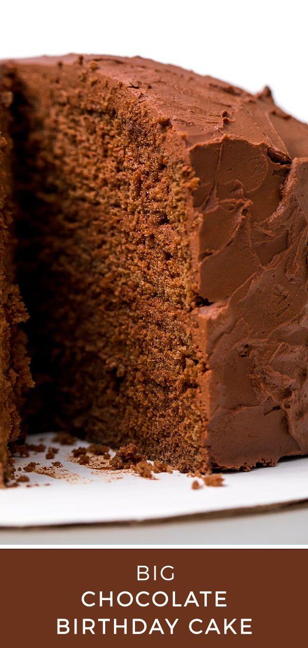 Astounding Big Chocolate Birthday Cake Recipe Cake Big Chocolate Cake Personalised Birthday Cards Veneteletsinfo