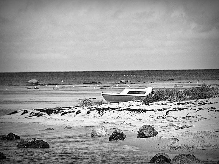 łódka, morze, żeglarstwo, plaża