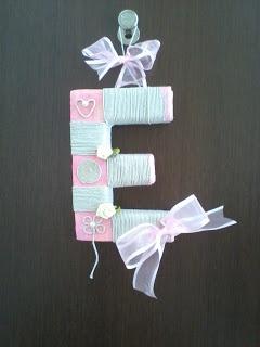 handmade 3D letters