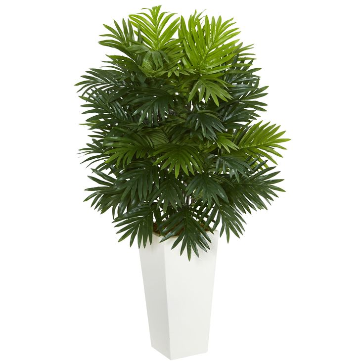 During those cold winter nights, it would be nice to have something to remind you of a warmer climate. This artificial areca palm plant with its beautifully arranged greenery radiates calm, serenity, and warmth. A white tower planter is included.