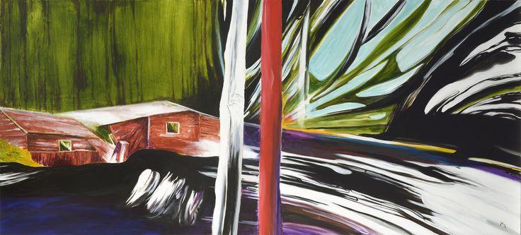 Jiří Hauschka: Wind, 2014, acrylic on canvas, 90 x 200 cm
