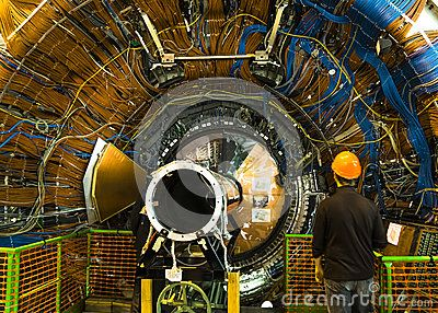 Buildings in CERN , LHCb detector experiment . Geneva Switzerland   http://lhcb-public.web.cern.ch/lhcb-public/en/detector/Detector-en.html    http://en.wikipedia.org/wiki/LHCb