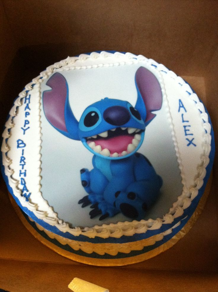this was my brothers birthday cake while we were in Disney world. delicious!