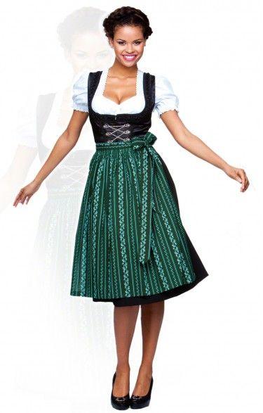 Oktoberfest dirndl apron SC195 - forest midi