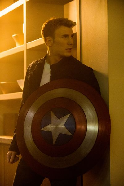 "Chris Evans as Steve Rogers (Captain America) in ""Captain America: The Winter Soldier."" (Zade Rosenthal / Marvel)"
