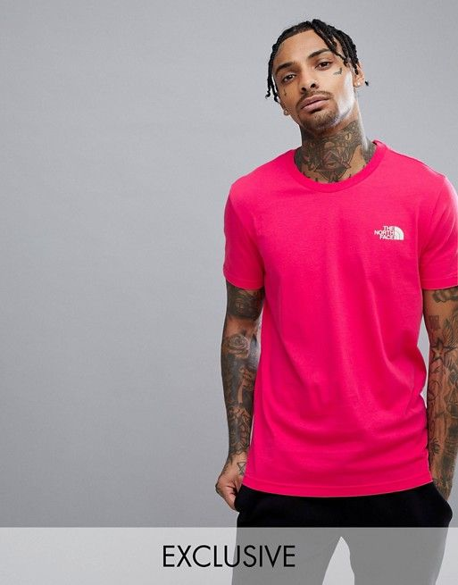2b303c00f The North Face Simple Dome T-Shirt Exclusive to ASOS In Bright Pink ...