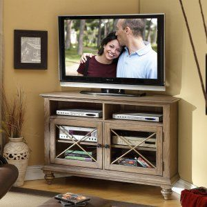 Sauder 42 in. Barrister Lane Corner TV Stand - Salt Oak - TV Stands at Hayneedle