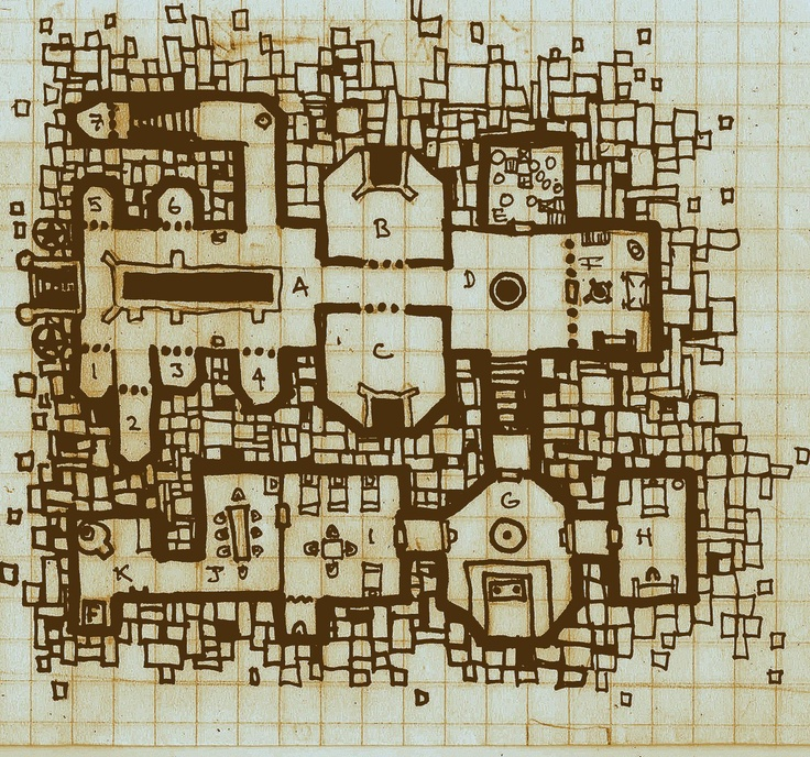 587 best images about fantasy maps floor plans dungeons for Floor 2 dungeon map
