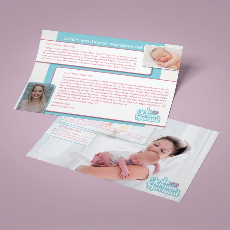Met veel plezier gewerkt aan het grafische ontwerp en het drukwerk van de flyers voor deKraamSpecialist.nl #zwangerschap #baby #design #drukwerk