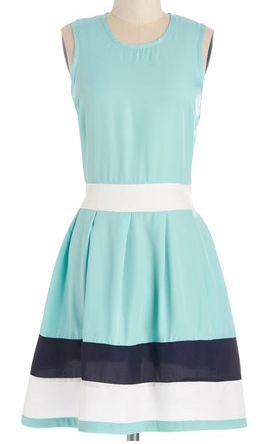 Beautiful summer dress in #mint with navy and white stripes - perfectly priced at $54.99! http://rstyle.me/n/i63khnyg6