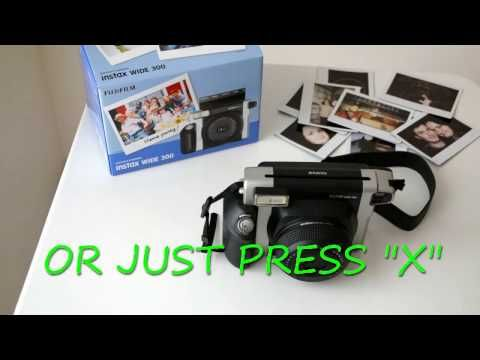 How to change film on instant camera - Fujifilm Instax Wide 300 - YouTube