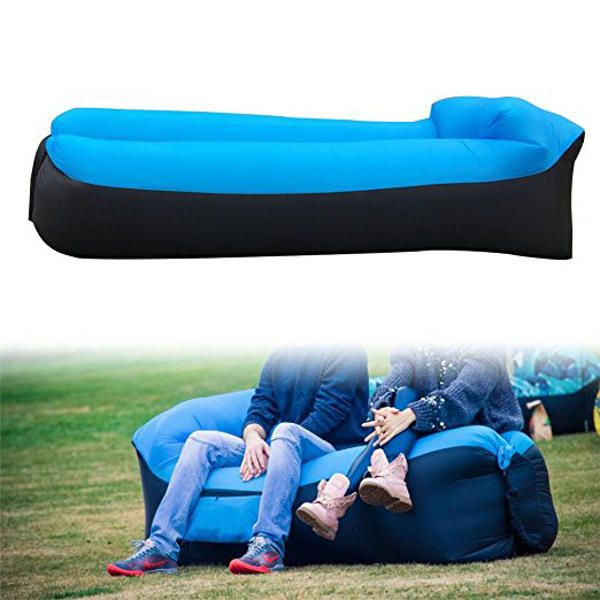 IPRee™ Upgraded Version Outdoor Travel Pillow Lazy Sofa Fast Air Inflatable Beach Sleeping Bed Sale - Banggood.com