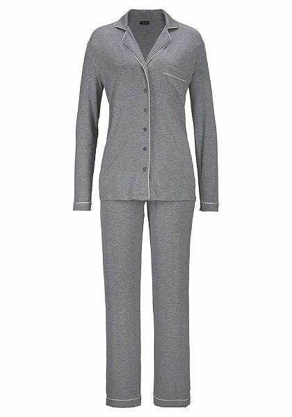 LASCANA pizsama klasszikus dizájnban, inggallérral és gomboláspánttal | Rendeljen online a OTTO webáruházában
