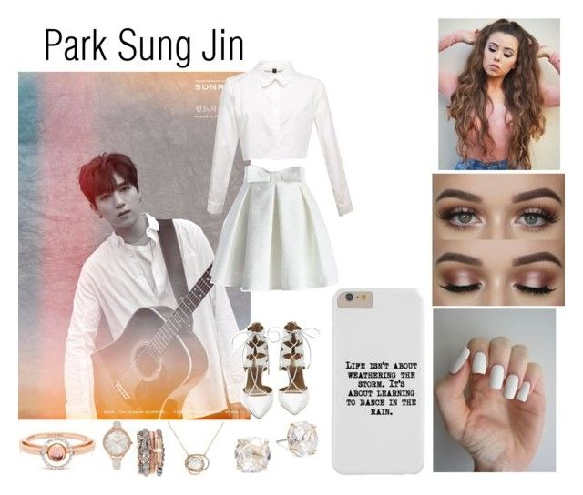 """""""Park Sung Jin"""" by ohmy-fangirl ❤ liked on Polyvore featuring Chicwish, Aquazzura, Karen Millen, Kate Spade, Jessica Carlyle and Marie Mas"""
