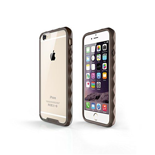 From 6.99 Iphone 6s Case / Iphone 6 Case  Sooper [non-slip Nude Hybrid Series] Premium Crystal Clear Back shock Absorption Bumper Hard Case For Apple Iphone 6s / Iphone 6 eco Package (pastel Brown)