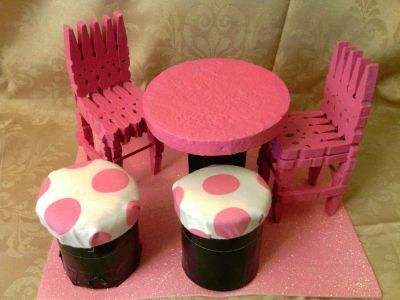 doll furniture recycled materials. Making Doll Furniture From Clothes Pins Recycled Materials