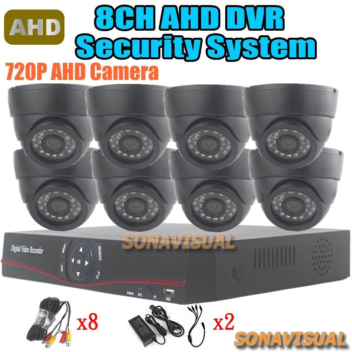 299.13$  Buy here - http://ali31n.worldwells.pw/go.php?t=32545722252 - 8 Channel AHD Alarm System For Home IR 8Pcs 720P AHD Security Camera Color Image Night Vision + H.264 HDMI 8CH AHD DVR Recorder