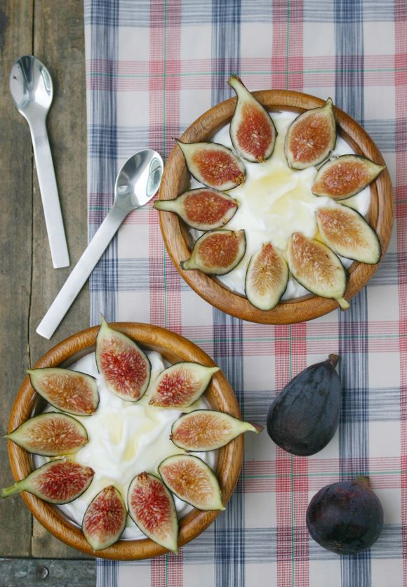 Figs with Greek Yogurt + Honey