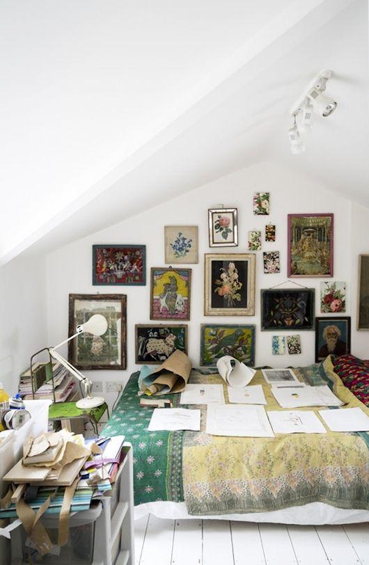 artist studio in bedroom / sfgirlbybay