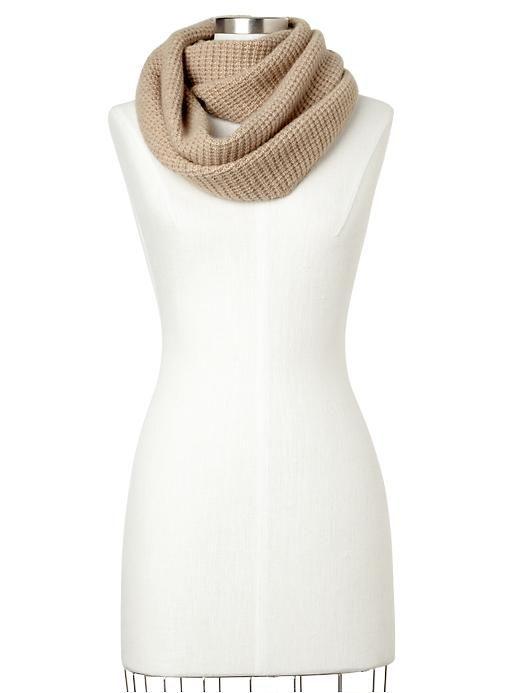 Cashmere waffle infinity cowl scarf | Gap