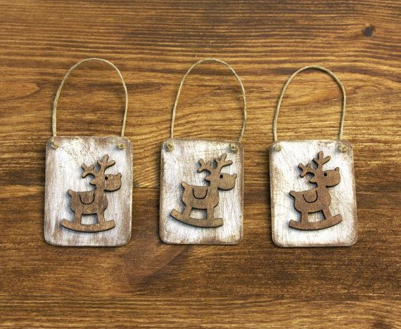Shabby Chic Reindeer Tags by ForMomentsinTime on Etsy