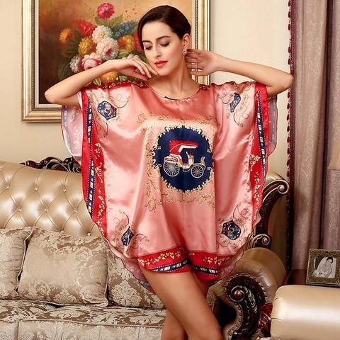 Chemise de nuit romantique rétro sensuelle nuisette en soie haut de gamme