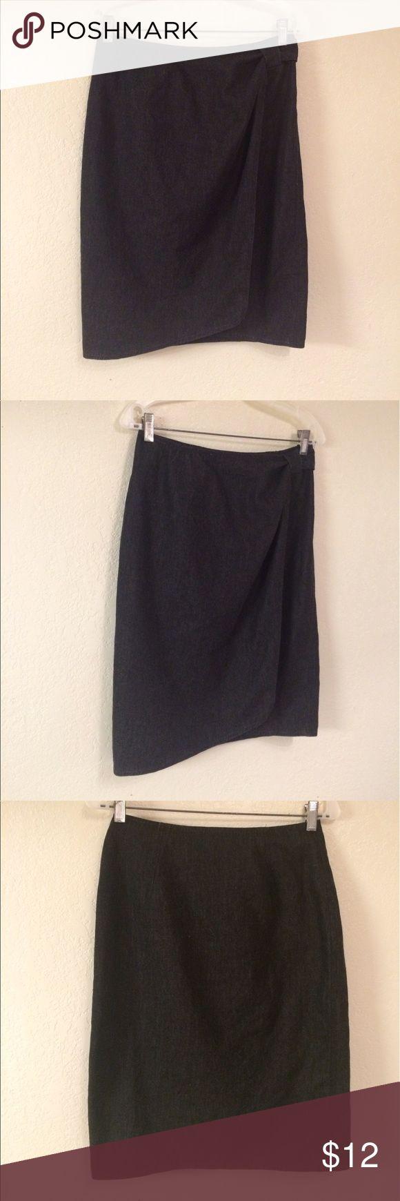 Ellen Tracy Blue Wrap Skirt, M Ellen Tracy Blue Wrap Skirt, M Ellen Tracy Skirts