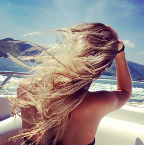Blowing in the sea breeze...