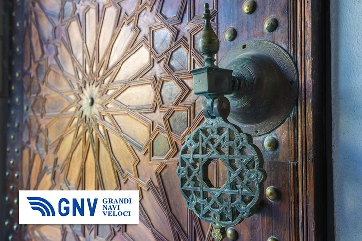 Ancient #moroccan doors. Discover #GNV routes from/to#Maghreb here: www.gnv.it/en/