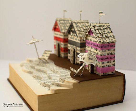 Una giornata al mare libro scultura alterato di MalenaValcarcel