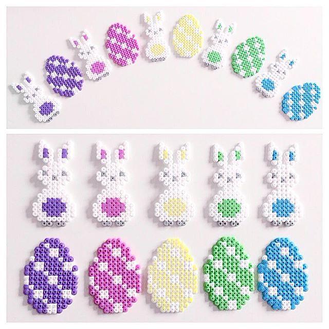Easter ornaments hama beads by elisabeth_krogseter