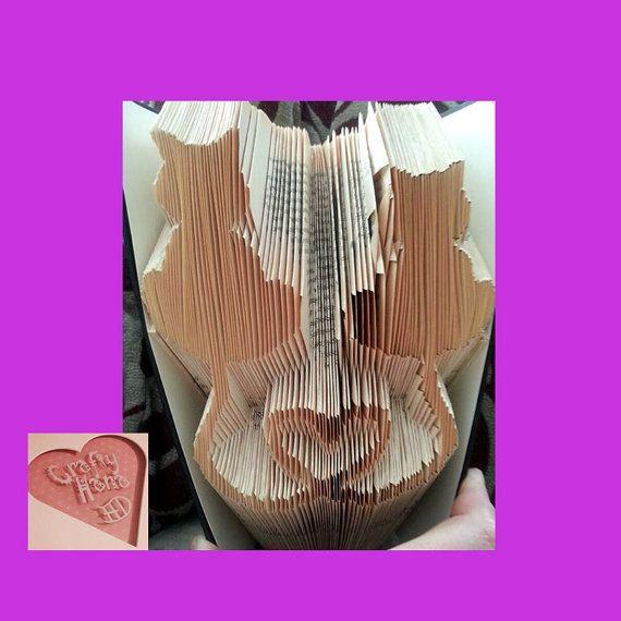 Livre pliage motif chat Hearts 282 plis mesure par CraftyHana