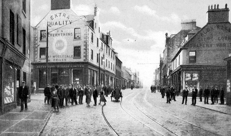 Old Photograph - looking towards Westburn Street junction with West Blackhall Street, Greenock Scotland