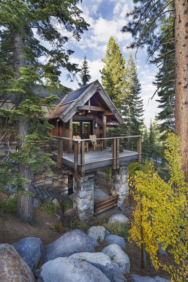 Wooden home in the forest httpswww quick garden