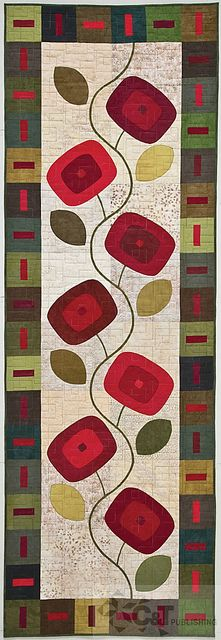 Kim Schaefer's Skinny Quilts:   15 Bed Runners, Table Toppers & Wallhangings.  Posted by C & T Publishing  by Kim Schaefer
