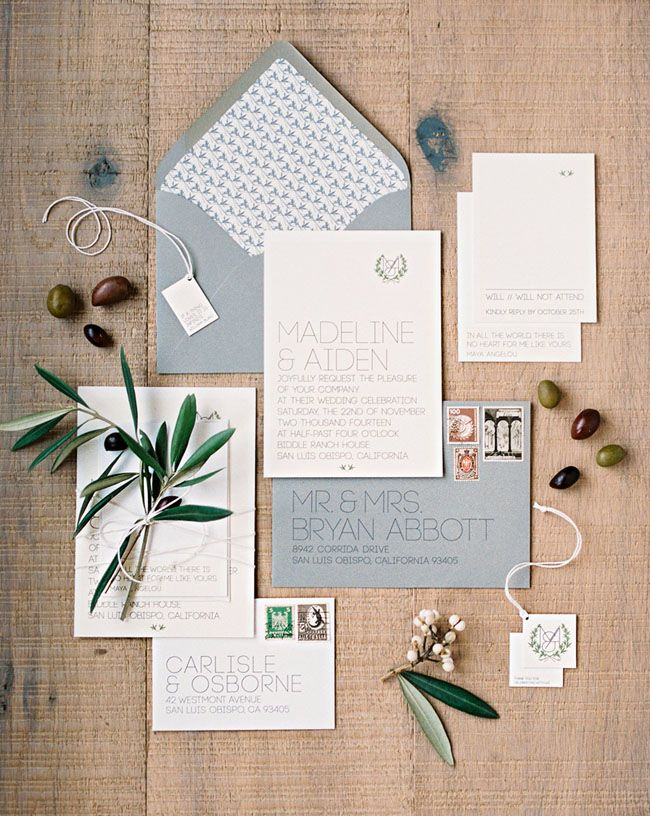 Elegant and romantic wedding inspiration - powder blue invitations