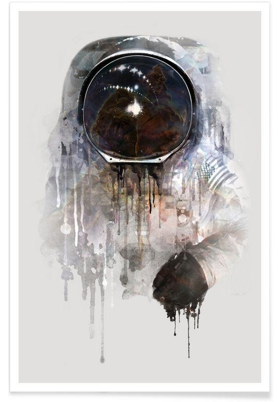 The Astronaut als Premium Poster von Dániel Taylor   JUNIQE