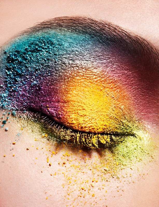 Art - #rainbow #makeup #eyeshadows