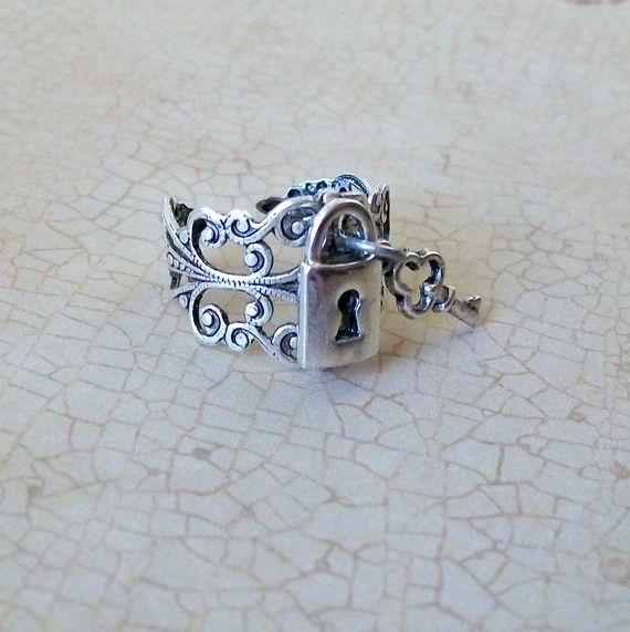 Lock and Key Steampunk Ring EXCLUSIVE DESIGN
