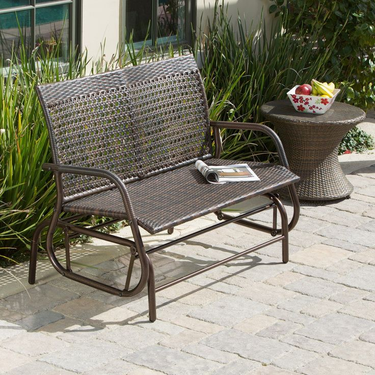 Maui Outdoor Swinging 4 ft. Outdoor Glider Bench | from hayneedle.com