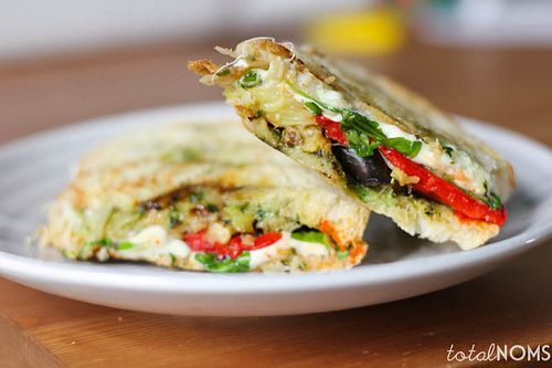 Eggplant Panini (I would go easy on the pesto or find a sub of ...