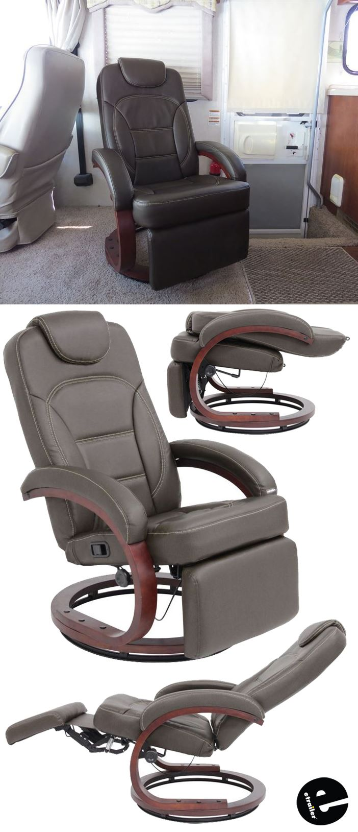 Rv Chairs Recliners >> Thomas Payne Euro Rv Recliner Chair W Footrest 20 Seat Width