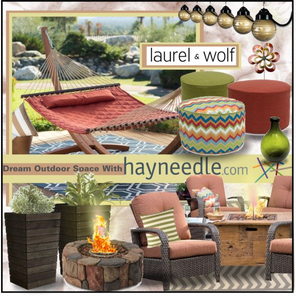 Dream Outdoor Space With Hayneedle.com by katjuncica on Polyvore featuring interior, interiors, interior design, home, home decor, interior decorating, Linon, Red Carpet Studios, contestentry and dreamoutdoorspacewithhayneedle