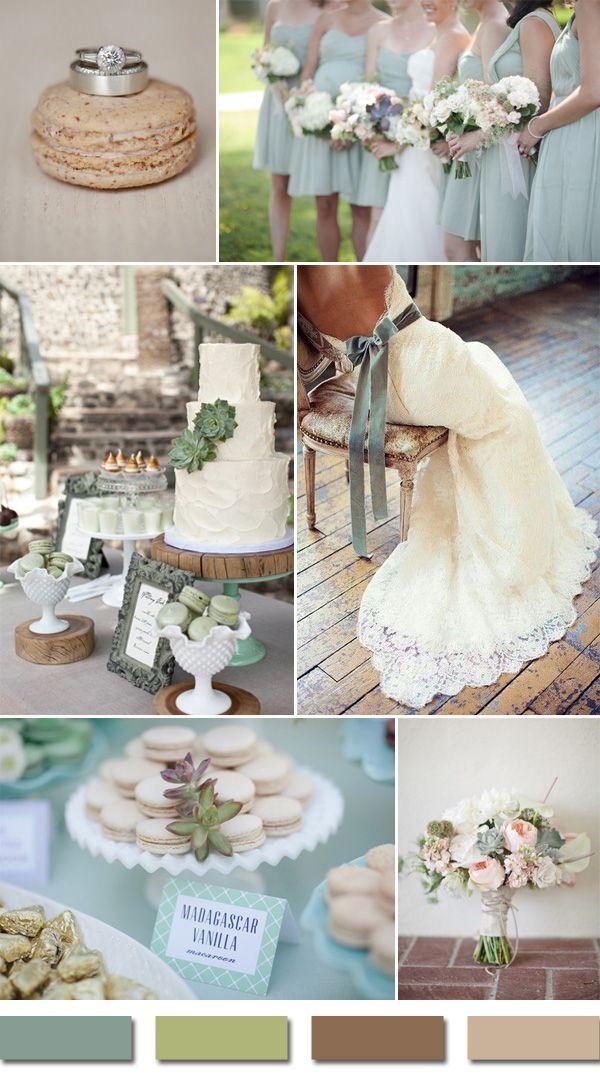 Sage And Brown Sandalwood Rustic Wedding Color Ideas 2015 Trends Cvb Green Weddings Wedding