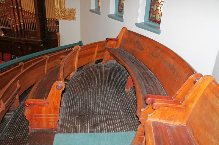 Church pews come to a meeting point | Flickr - Photo Sharing!